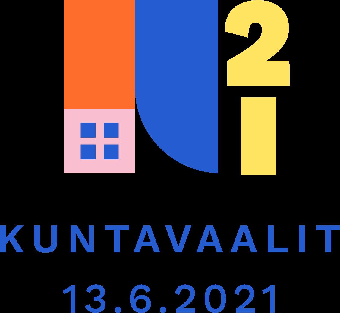 Kuntavaalit 13.6.2021 logo.